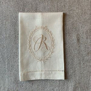 Mudpie Linen Decorative Hand Towel w embroidery